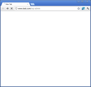 Image of the WordPress White Screen of Death