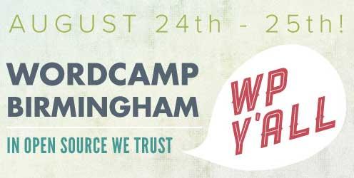 Image of the WordCamp Birmingham website header